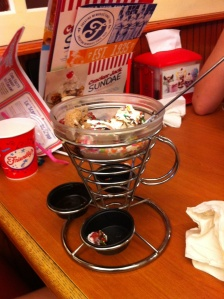 Empty sundae dish