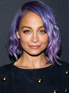 Nicole Richie with purple hair