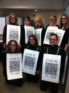 Halloween costumes of QR codes