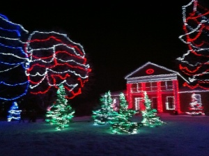 Christmas lights at Upper Canada village in Morrisburg