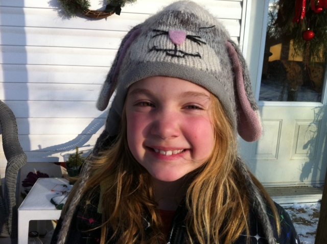girl in rabbit hat