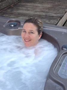 woman in hot tub