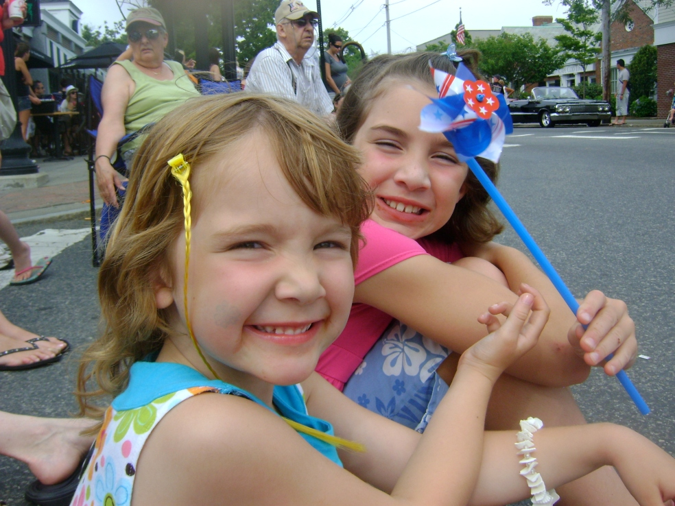 Girls at a parade