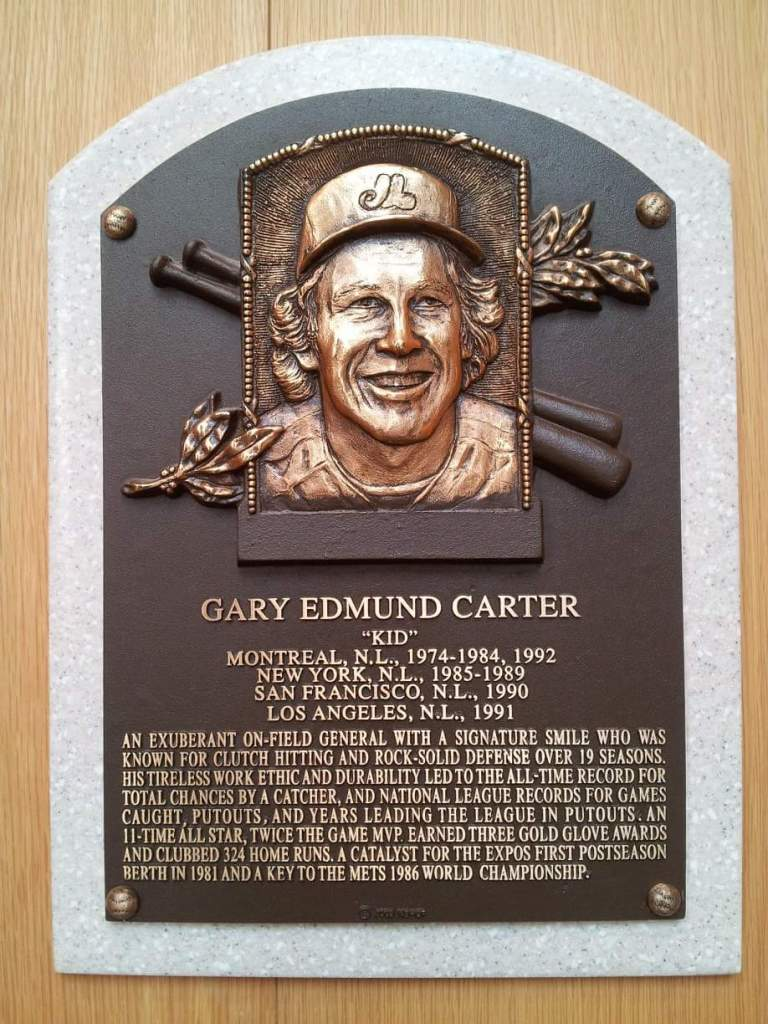 Gary Carter plaque