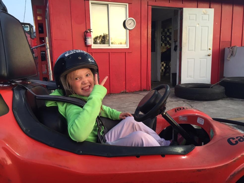 Girl in go-kart
