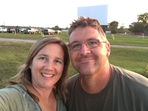 Selfie at the drive-in