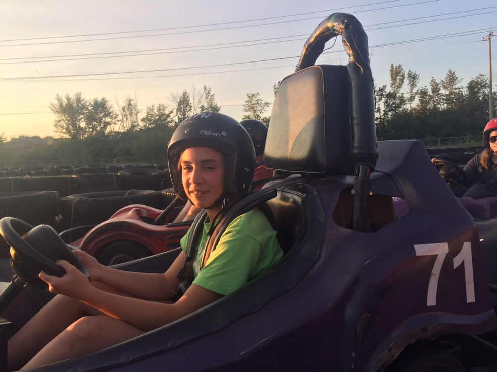 Girl in go-kart