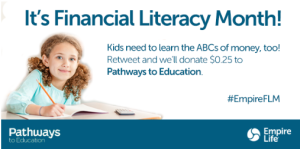 Financial Literacy Month ad