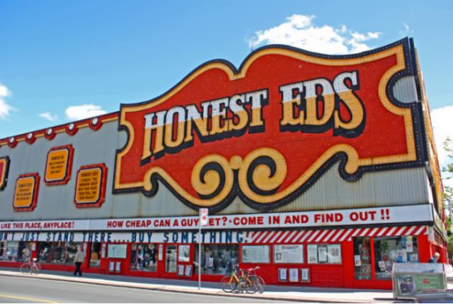 Honest Ed's sign