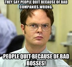 people quit because of bad bosses
