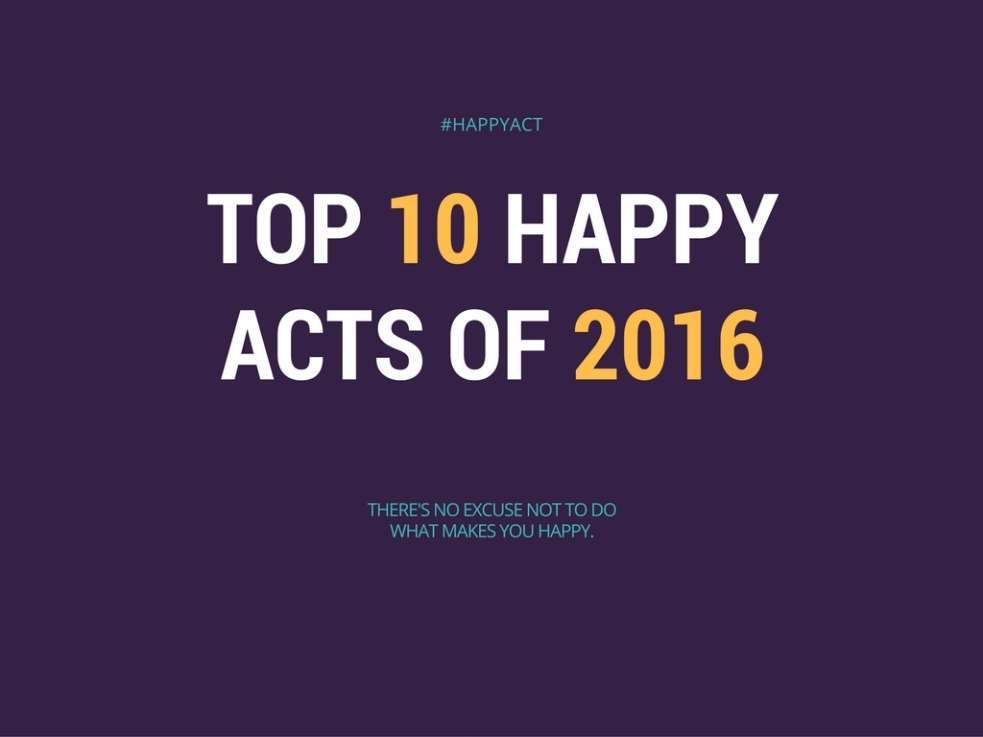 top 10 happy acts of 2016