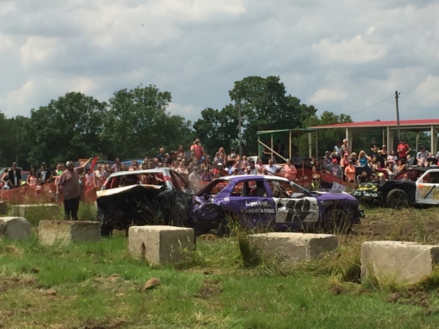 Cars at demolition derby