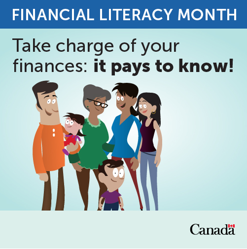 Financial Literacy month--take charge of your finances