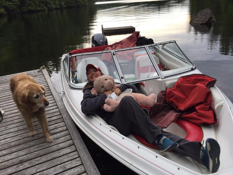 Girl in boat