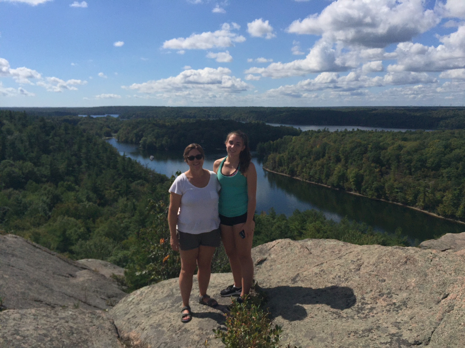 Grace and me at the top of Rock Dunder