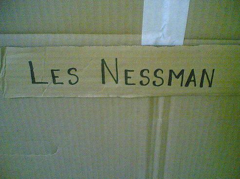 Les Nessman fake door sign