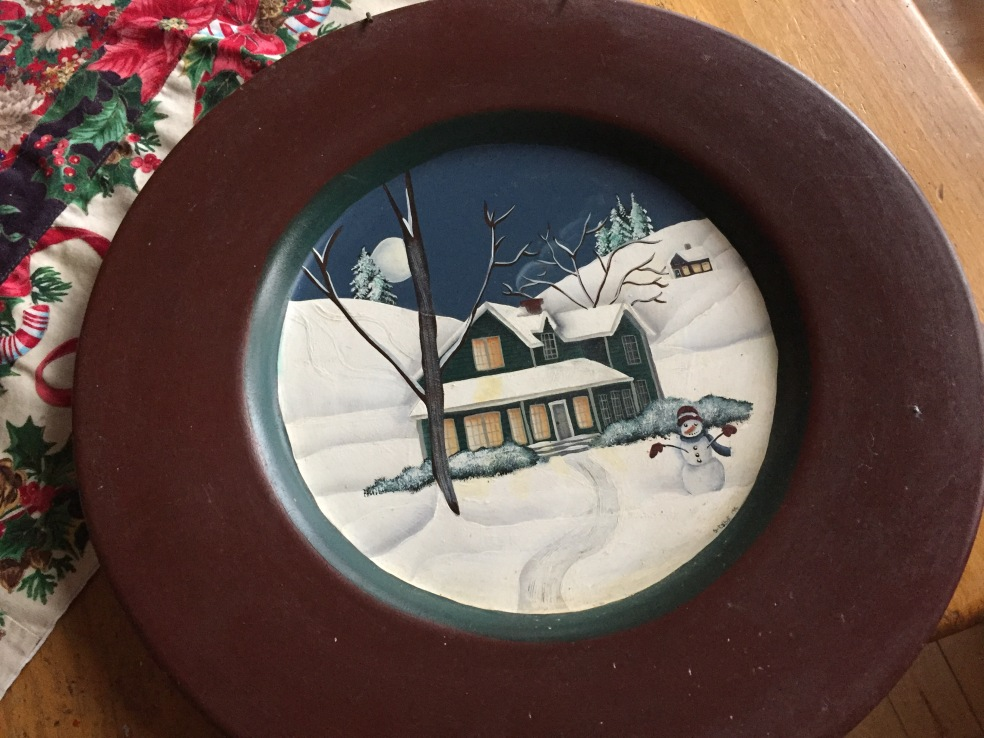 tole painted plate
