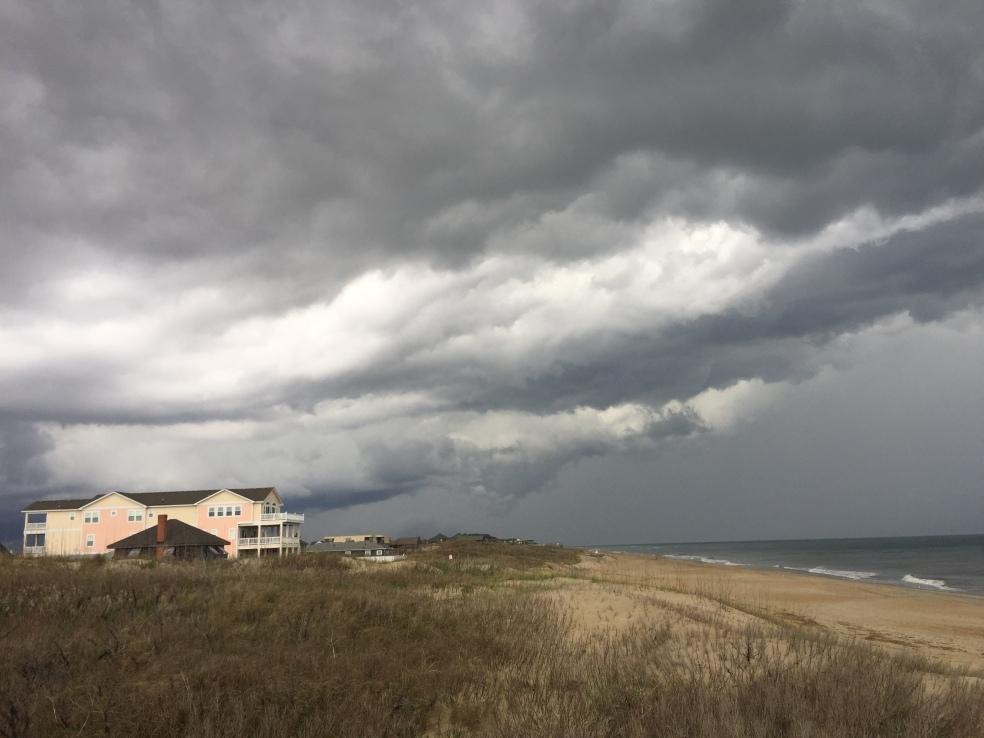 Storm over North Carolina beach