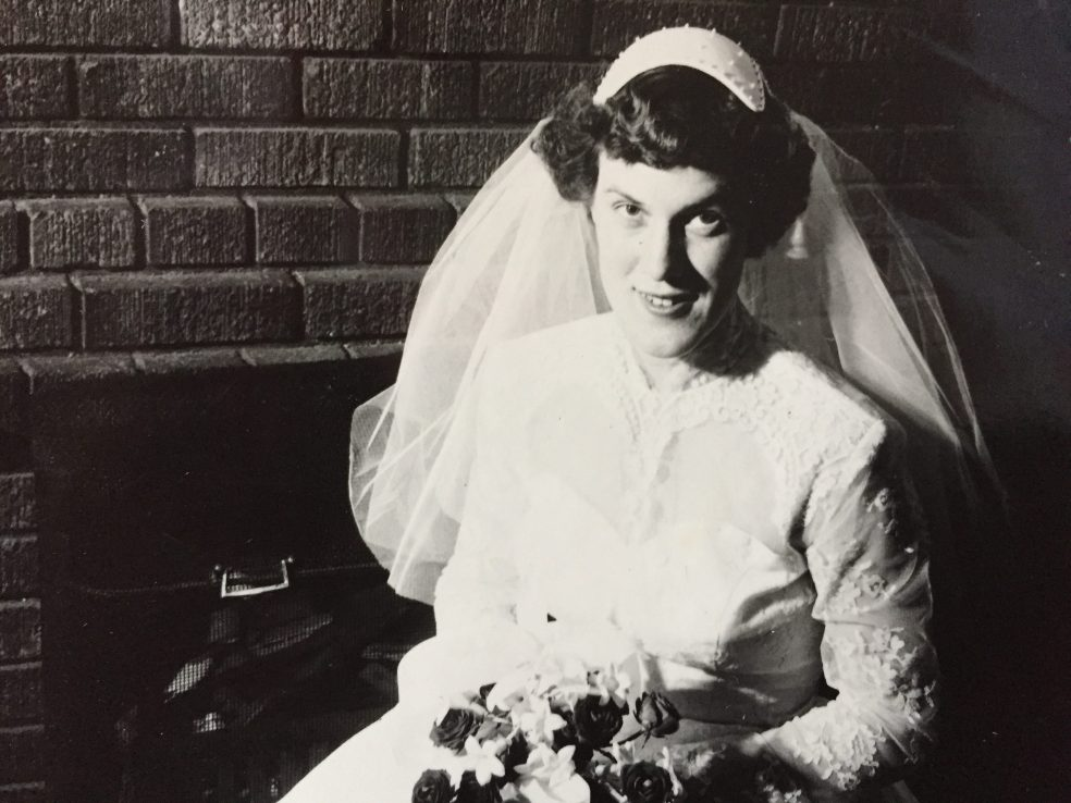 Author's mother in her wedding dress