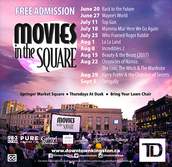 Movies in the square line up Kingston 2019