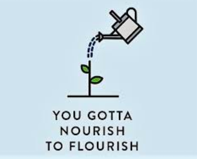 Sign that says you gotta nourish to flourish