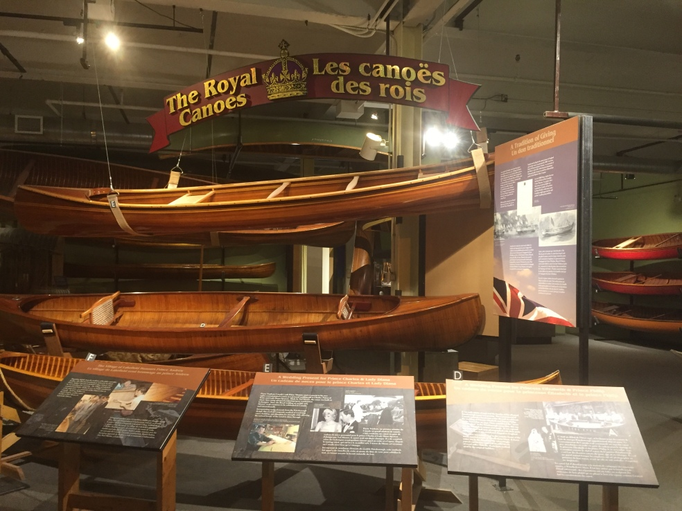 Canoes given to members of the Royal family