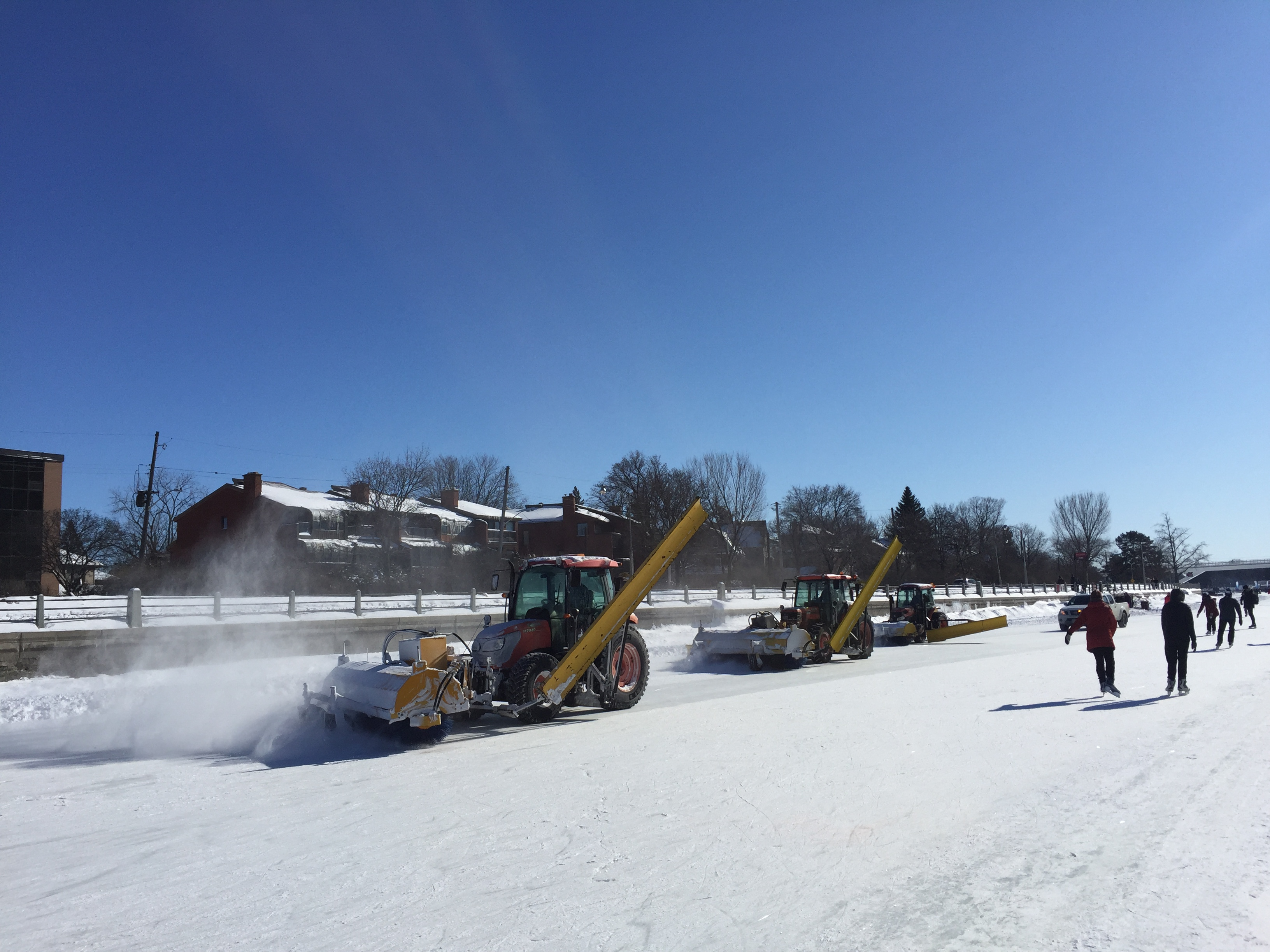 Snowplows on the ice
