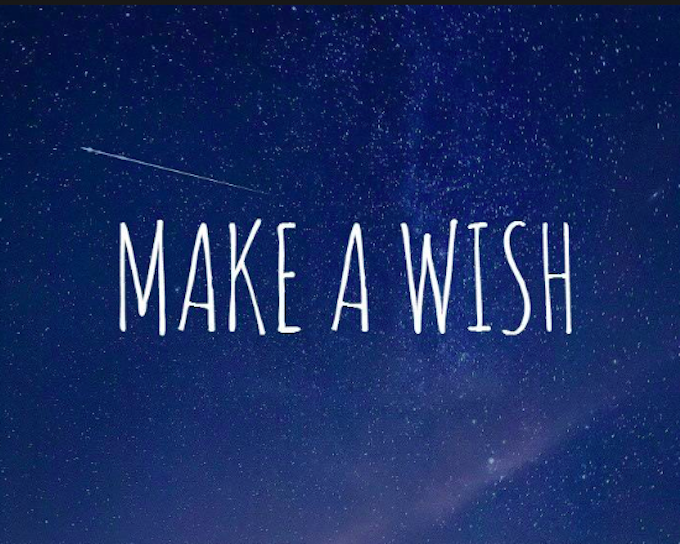 Make a wish sign
