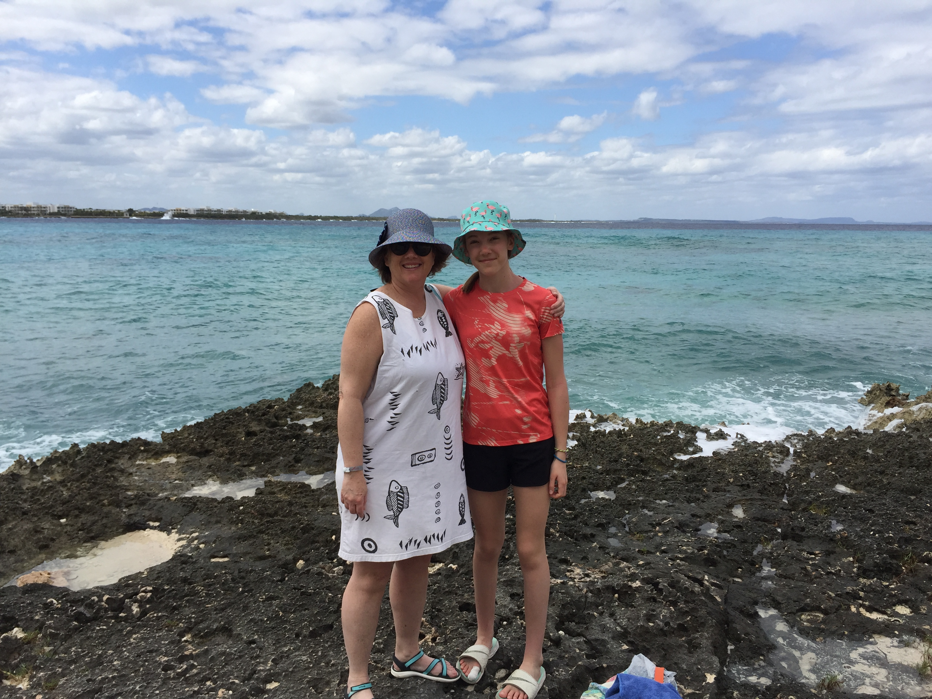 Me and Clare on the rocks