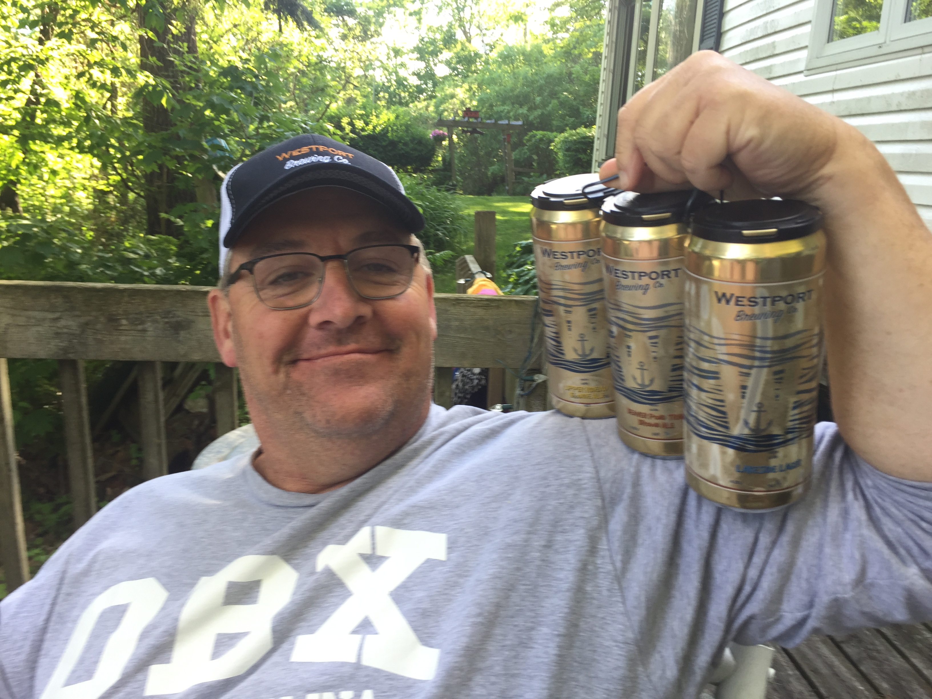 My husband Dave with beer