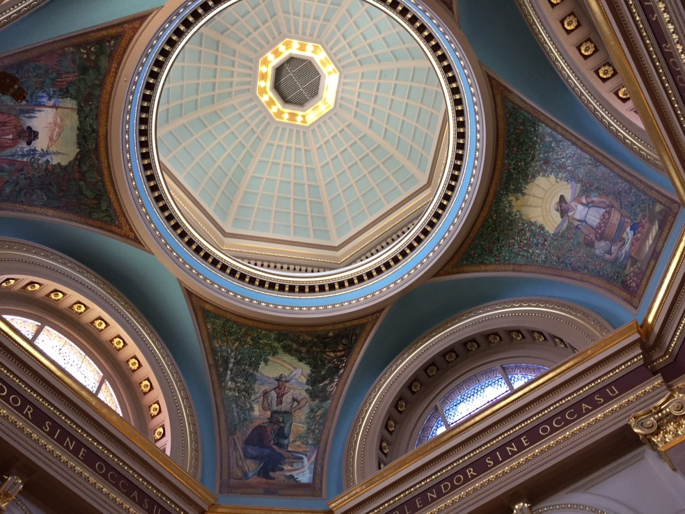 ceiling of BC provincial government building in Victoria