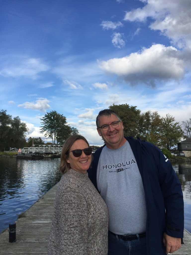 Author and her husband at Rideau Canal