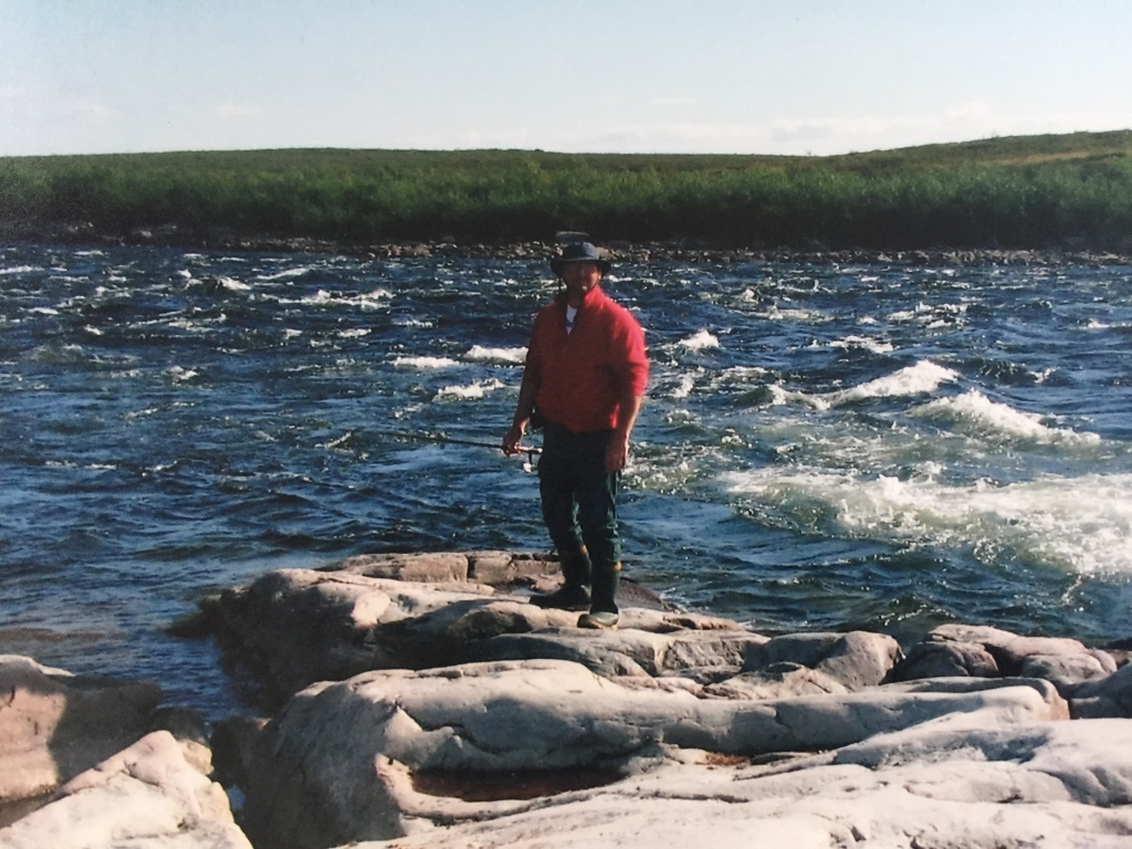 Author on Dubawnt River in NWT