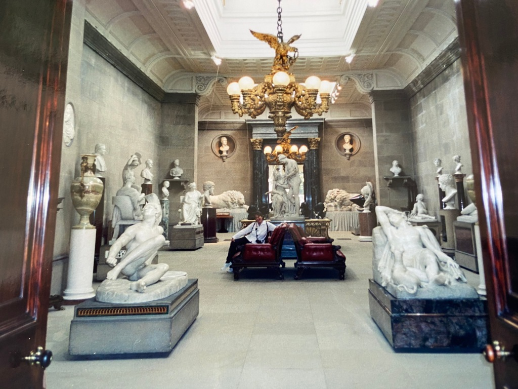 Statue gallery at Chatsworth Hall