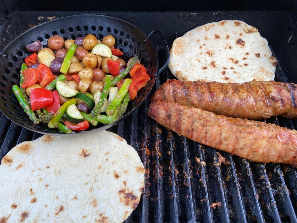 Pork tenderloin on the BBQ