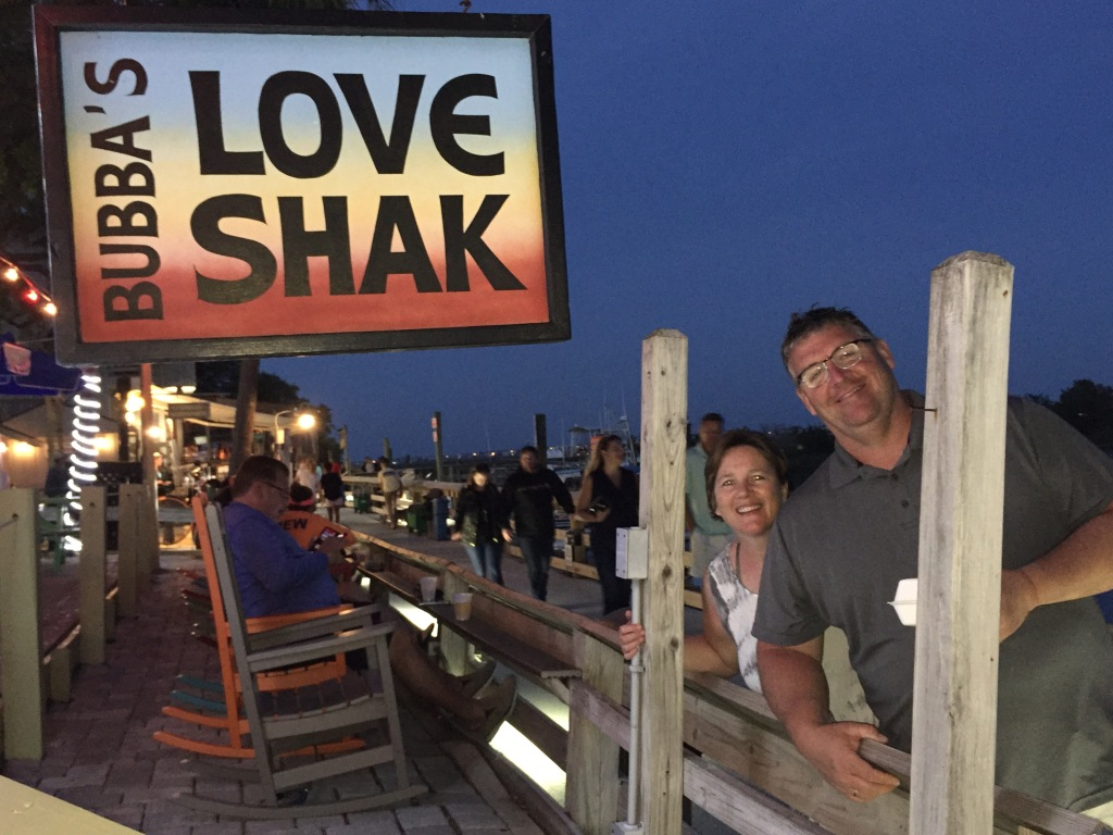 Me and Dave on a boardwalk in South Carolina