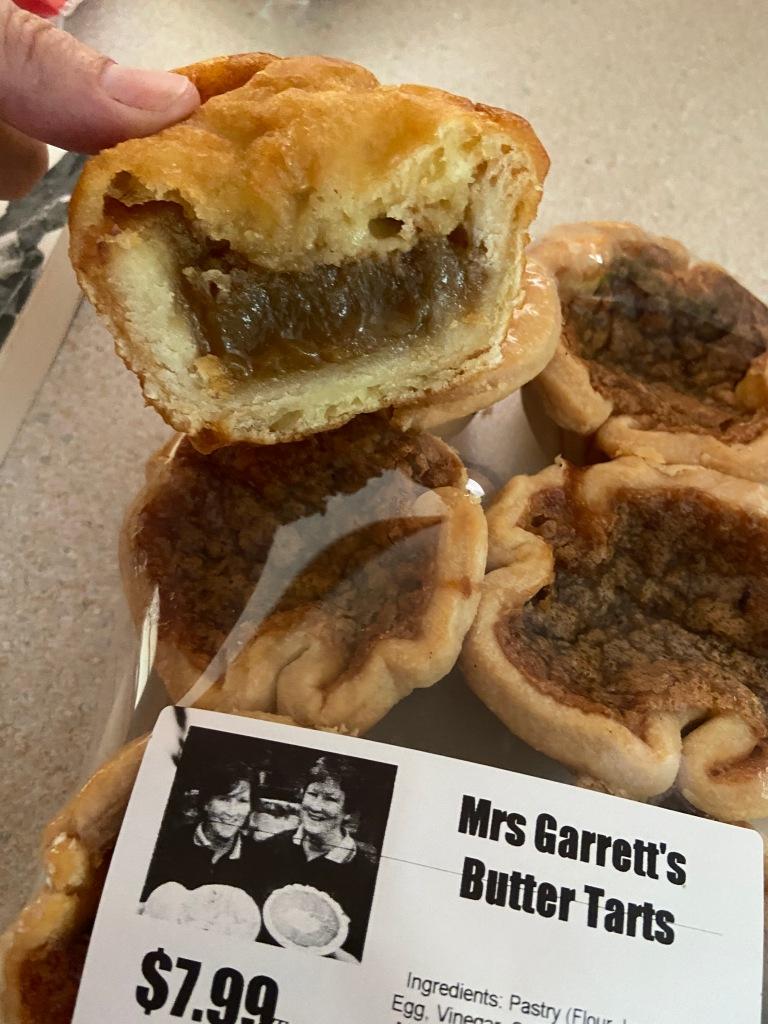 Deep-fried butter tart and regular butter tart