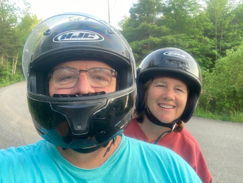 Husband and author on ATV