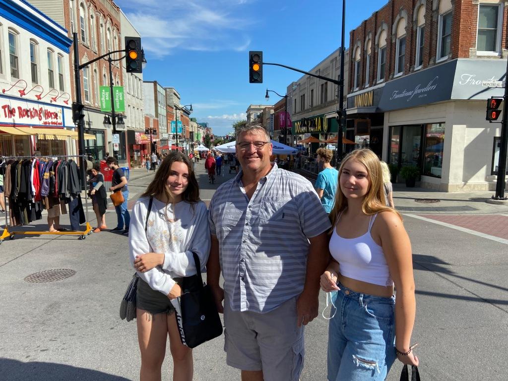 My family on Princess Street in Kingston, Ontario