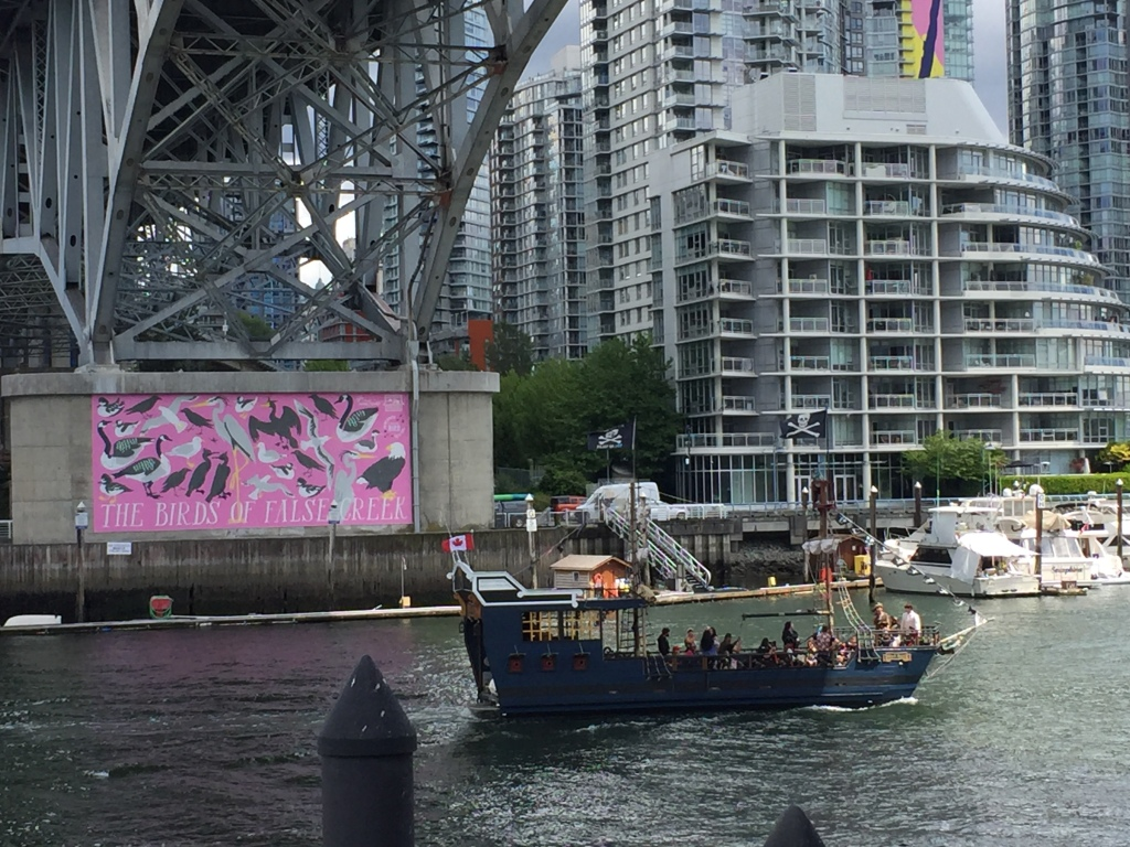 Pirate ship in Vancouver harbour